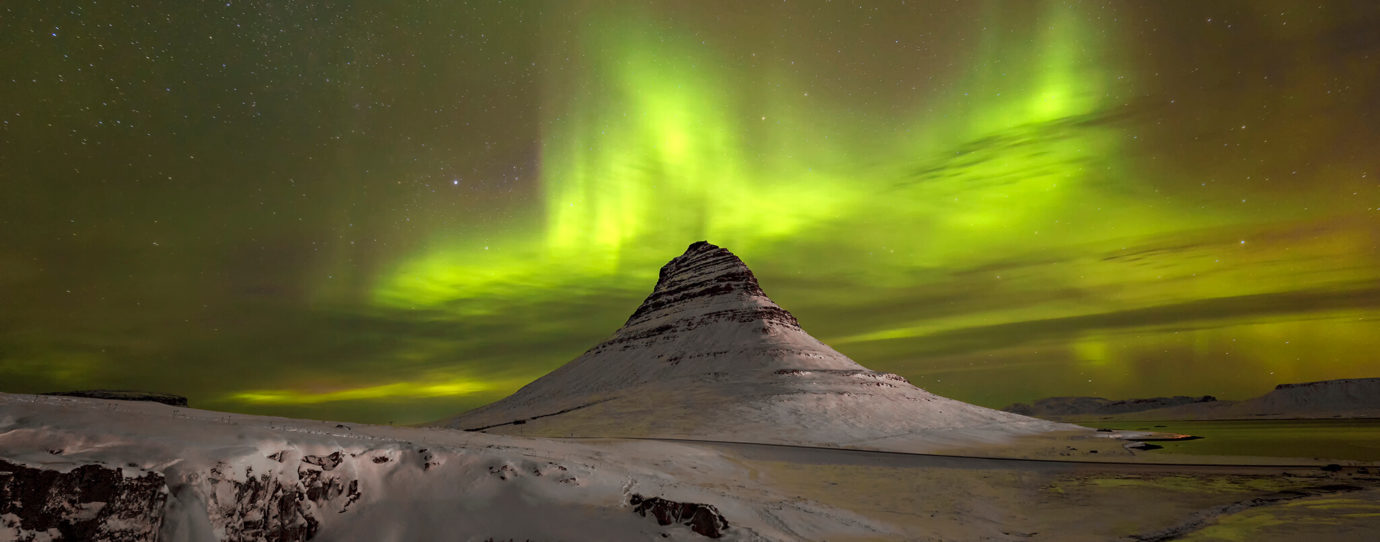 Aurora Borealis, Kirkjufell, Snaefellsnes Peninsula, Iceland