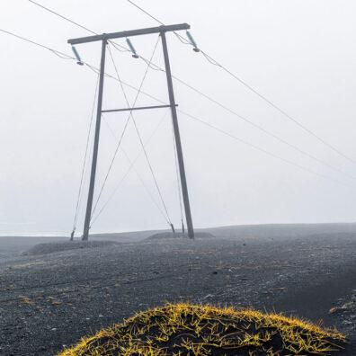 Pylon In the Mist, Jokulsarlon, Iceland