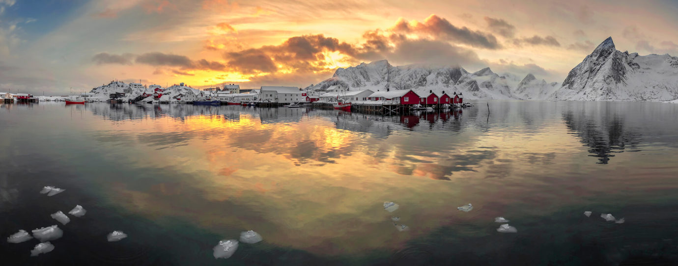 Sunset, Hamnoy, Lofoten, Norway