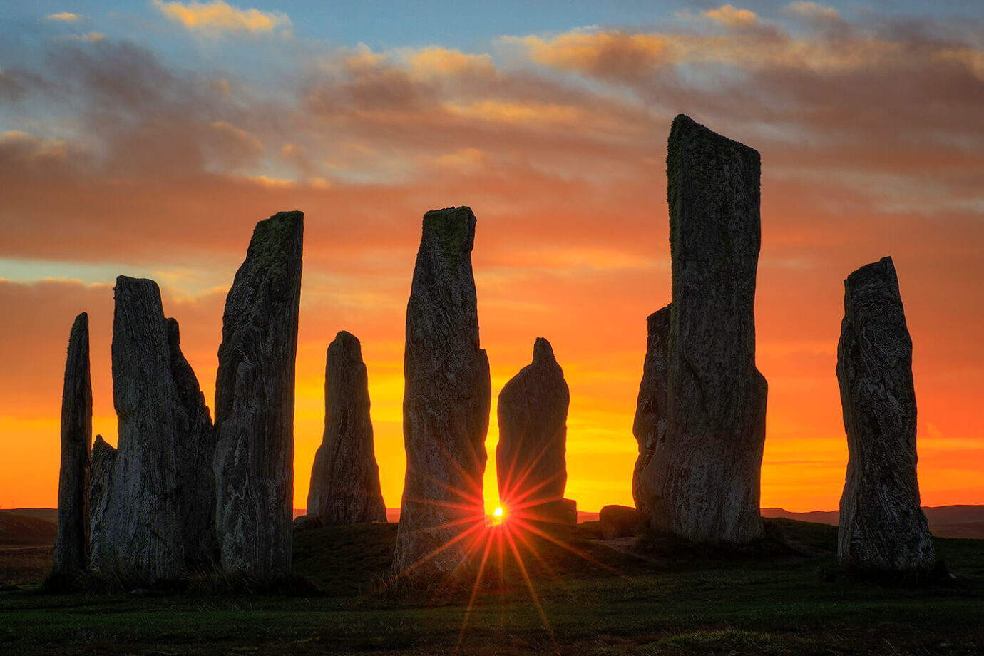 Stunning Sunrise, Callanish Standing Stones, Isle of Lewis, Outer Hebrides, Scotland