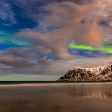 Aurora Borealis, Skagsanden, Lofoten, Norway, Melvin Nicholson Photography