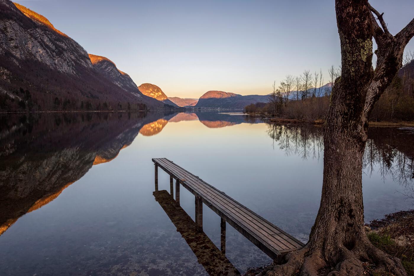 Sunset at Lake Bohinj, Slovenia