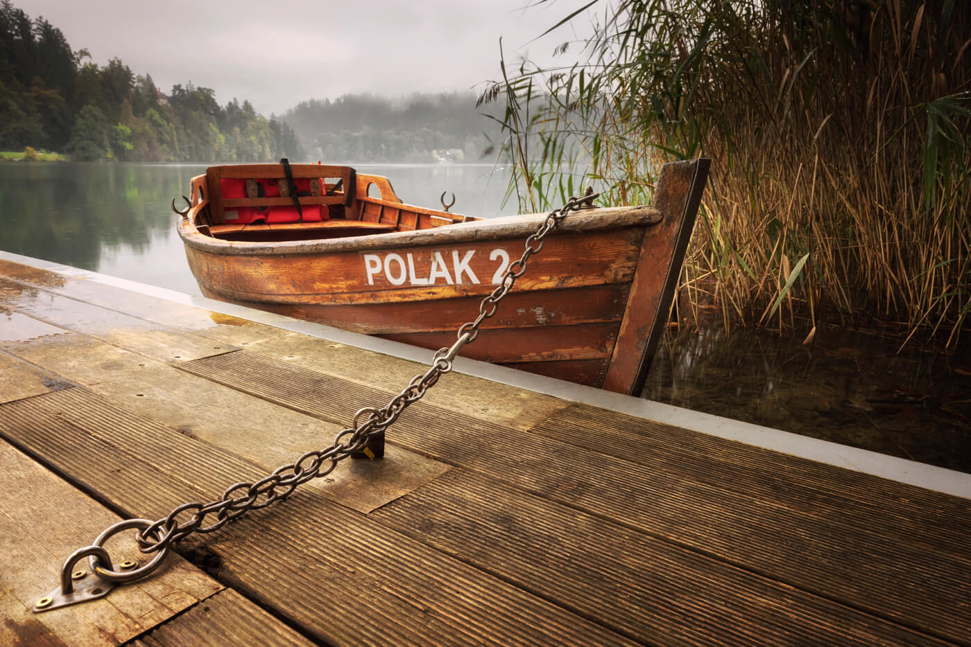 Wooden Rowing Boat, Lake Bled, Slovenia