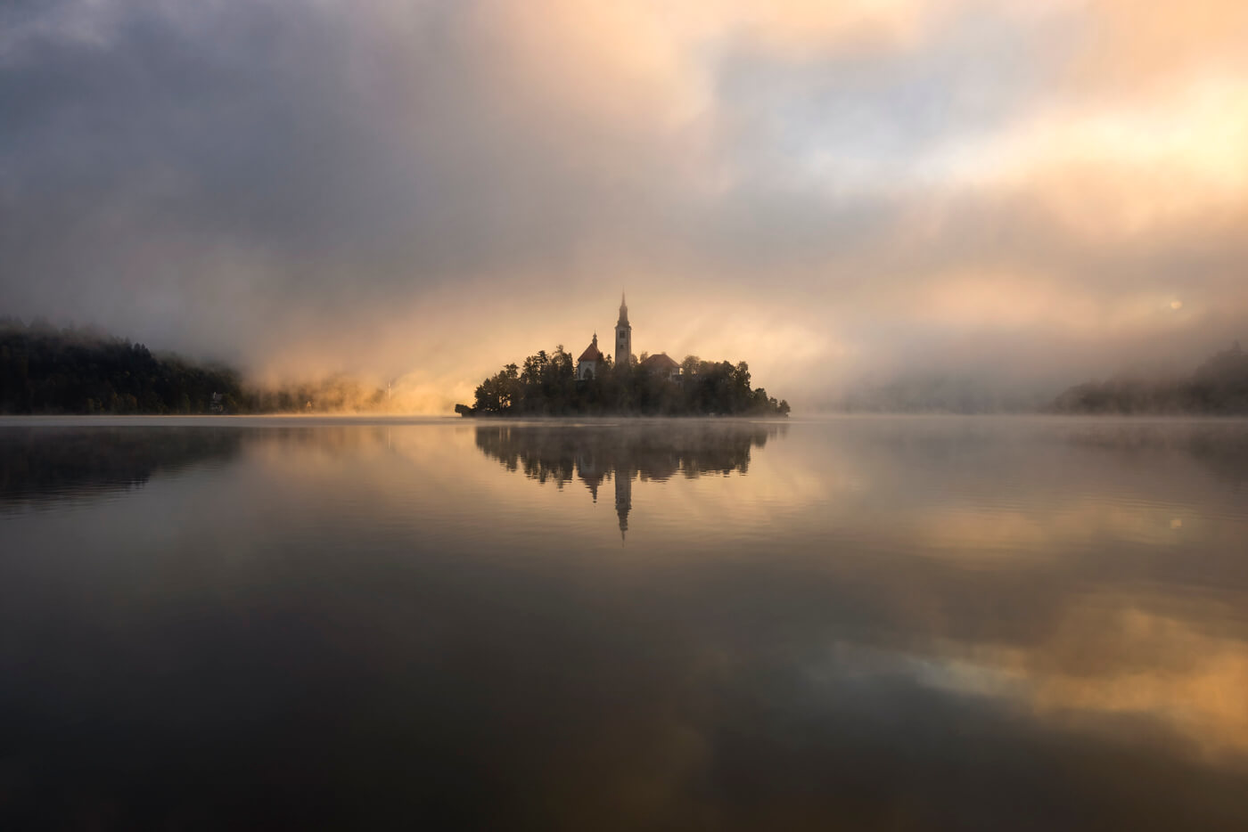 Lake Bled at sunrise, Slovenia