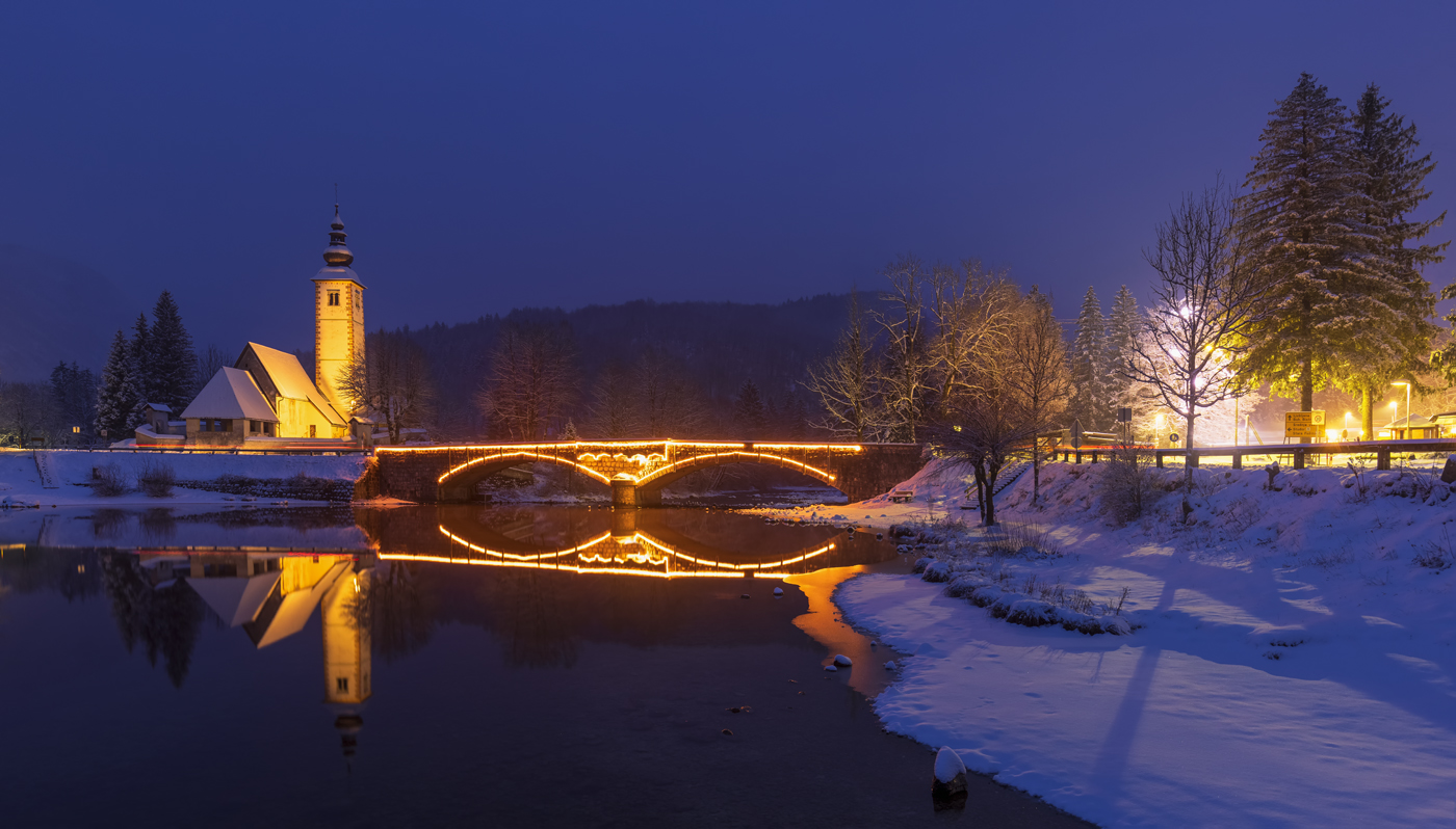 St. John the Baptist's Church, Lake Bohinj, Slovenia