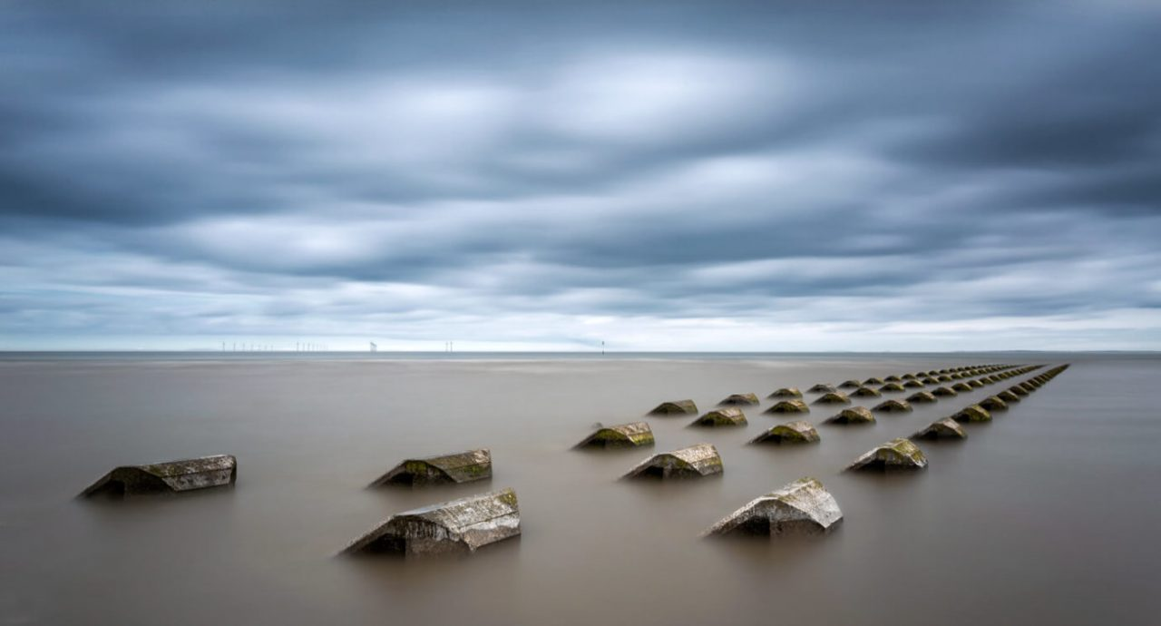 Sea Defences, New Brighton, Merseyside